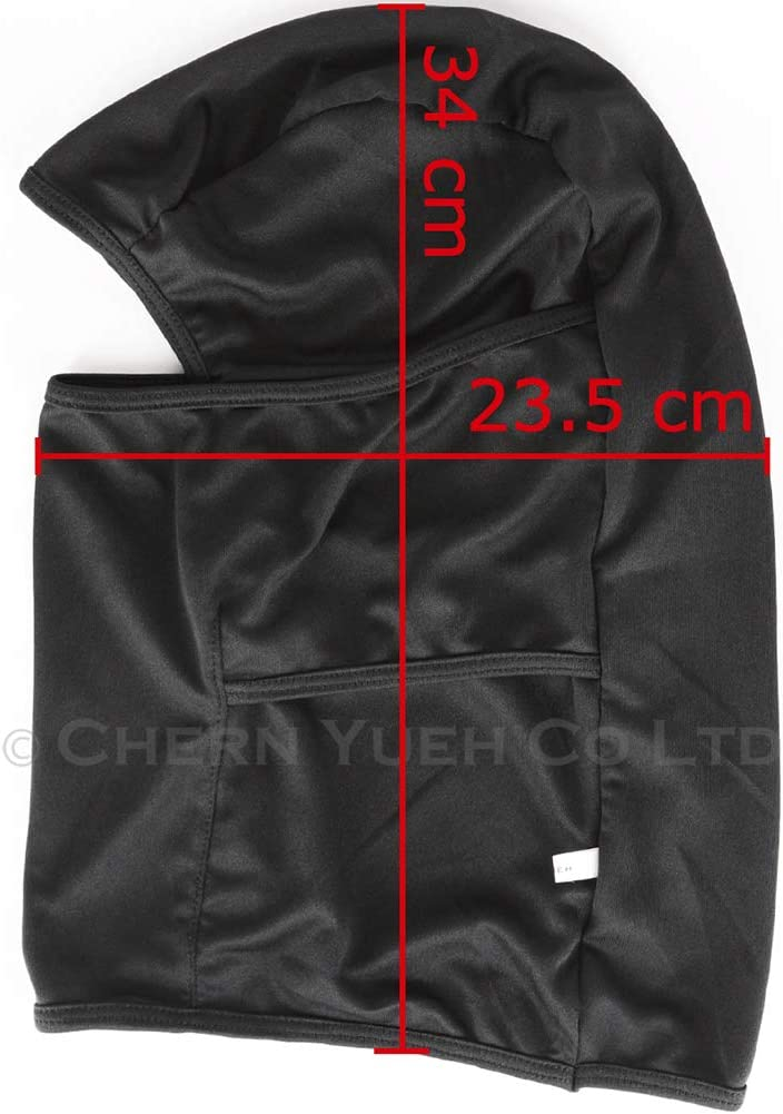 Balaclava Face Mask Cover for Motorcycle Cycling Sports (Black)
