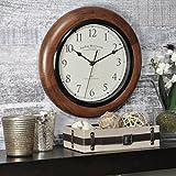 FirsTime & Co. Walnut Round Wall Clock, 11'
