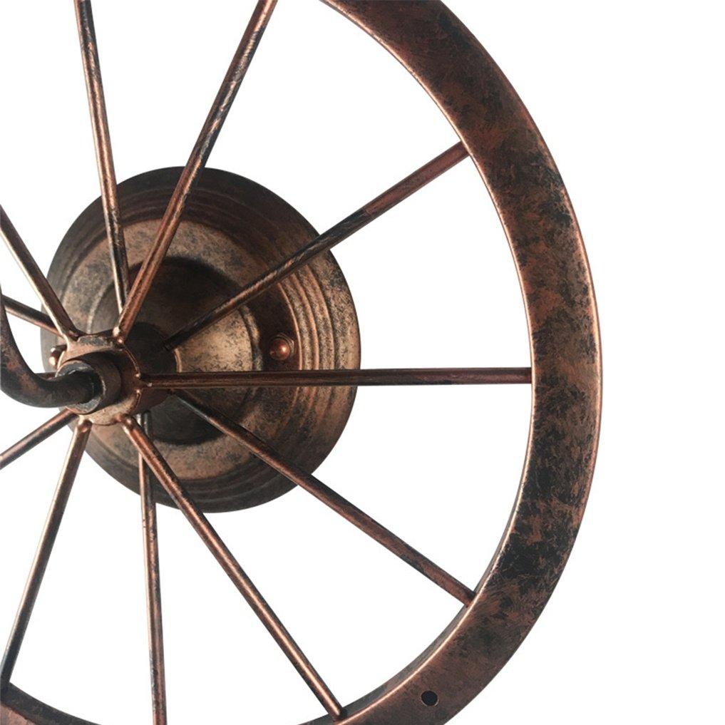 shan Industrial Vintage DiseñO Lámpara De Pared Antique Rust Ruedas Metal Frame Lámpara De Pared Nostalgia Retro Simple Edison Loft Restaurante Lámpara De Pared Ø31CM E27 MAX 60W: Amazon.es: Deportes y aire