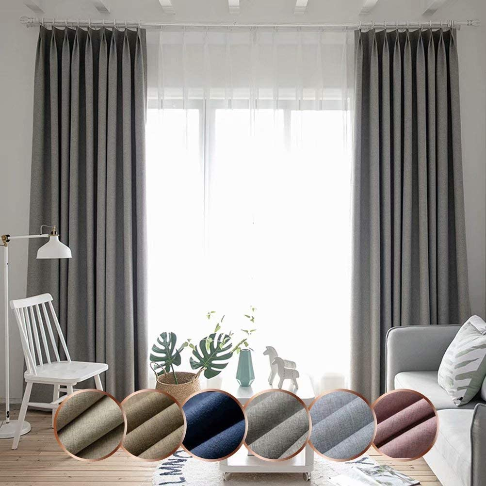 Leadtimes Bedroom Blackout Curtain Panels D Branded goods Linen Insulated 4 years warranty Room