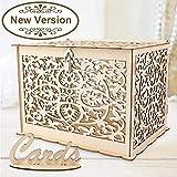 OurWarm Hochzeitskartenkiste aus Holz mit Schloss, Kollektion Geschenkkartenkästen für...