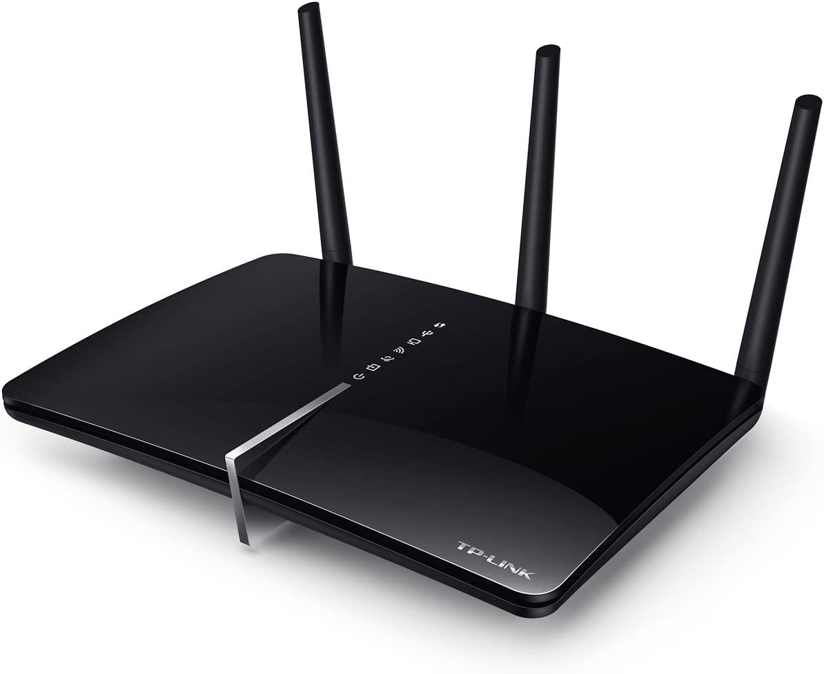 TP-LINK Archer D5 - Módem Router AC1200 Mbps Banda Dual WiFi Gigabit ADSL2+ (WPS, 2 Puertos USB para Compartir Archivos, Medios e impresoras)