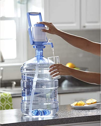Krishna Home Manual Hand Press Bottled Water Dispenser Pump with Handle Carry Handle Cap for 20 L Bottle Multi Color