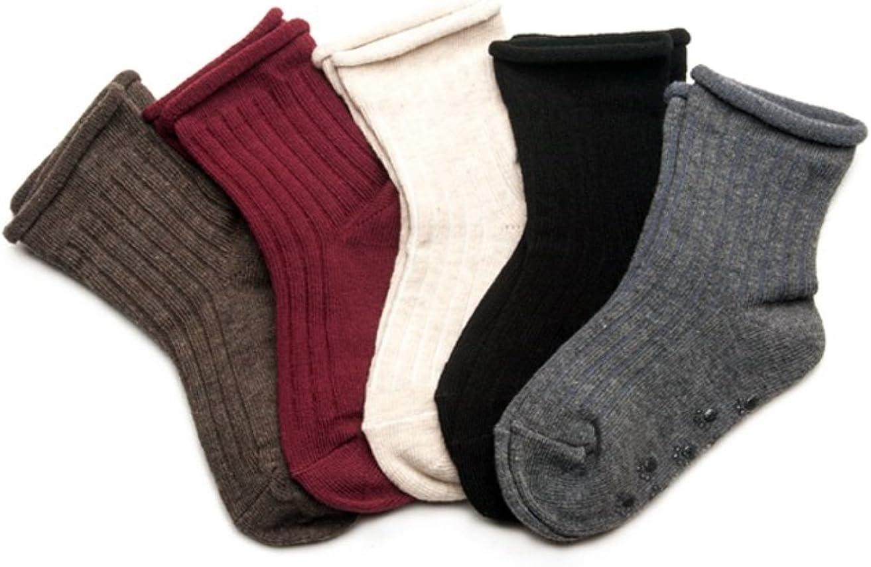Baby Socks, Anti Slip, Crease Pattern, 5-Pack set for 1-3 Year Baby
