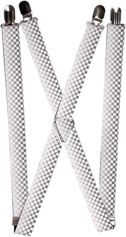 Buckle-Down unisex adults Buckle-down - Checkered Suspenders, Multicolor, One Size US
