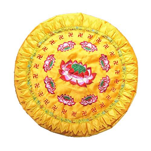 60CM Round de Lotus Yoga Pray Pad Coussin Coussin Mat Gold