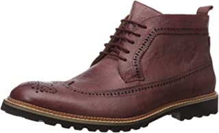 MARC JOSEPH NEW YORK Men's Leather Extra Lightweight Ankle Boot with Wingtip Detail