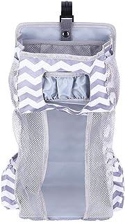 Organizador de cambio de pañales colgante de cuna multifuncional 5 en 1, bolsa de almacenamiento colgante impermeable organizador de armario de bebé para silla de paseo