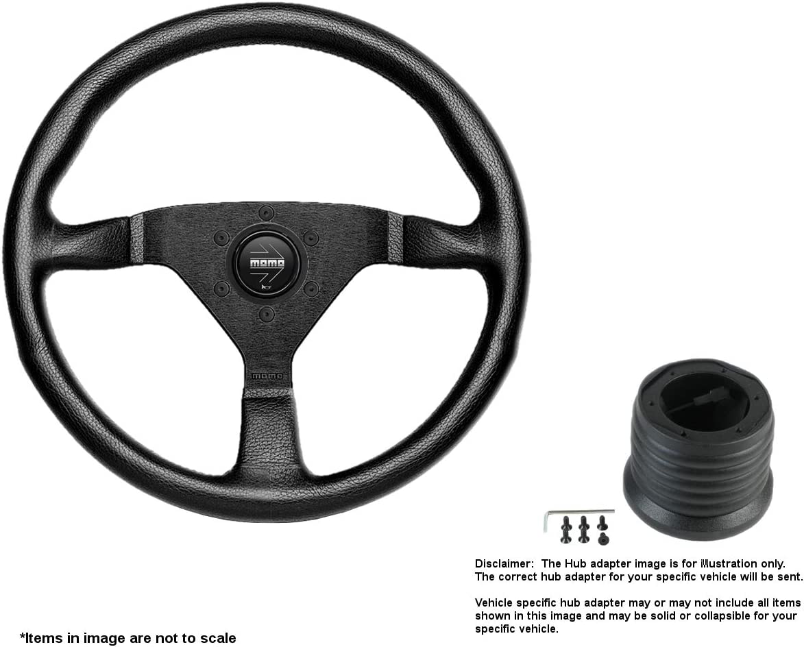 MOMO Montecarlo 320mm Dealing full price reduction 12.6 Inches Steering Bru w Wheel Long-awaited Leather