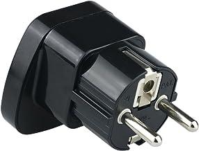 Wonplug European Plug Adapter Schuko Type E/F for Germany, France, Europe, Russia,South Korea,Egypt, Iran, Indonesia,2-Pin...