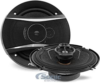 Pioneer TS-A1676R A Series 6.5 inch 320 Watts Max 3-Way Car Speakers Pair with Multilayer Mica Matrix Cone Design,black