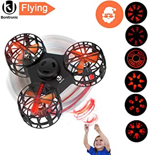 Bonitronic Flying Ball, Flying Fidget Spinner USB Rechargeable, Mini Drone LED 6 Dynamic Patterns, Flying Toys for Boys Girls, Kids Adults