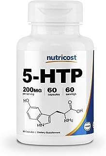 Nutricost 5-HTP 200mg, 60 Veggie Capsules (5-Hydroxytryptophan) - Gluten Free & Non-GMO