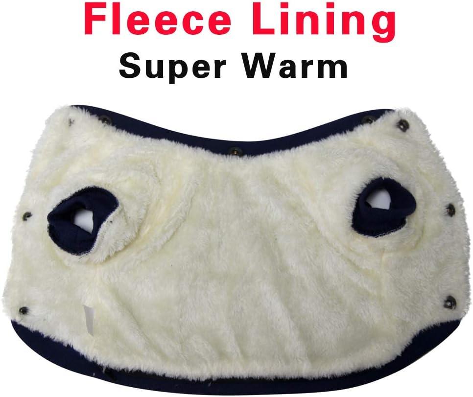 JoyDaog Fleece Lined Dog Coat with Detachable Hood and Detachable Hind Legs,Warm Puppy Jacket in Winter