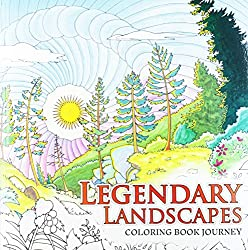 legendary landscapes colouring book for adults by canadian artists