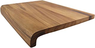 roro Wood Cutting Board and Prep Station with Curved Edge, 16 Inch