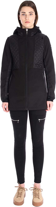 Point Zero Shayne Softshell Quilted Hooded Jacket