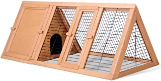 Triangle Rabbit Hutch Chicken Coop Guinea Pig Ferret Cage Hen Chook House Run L