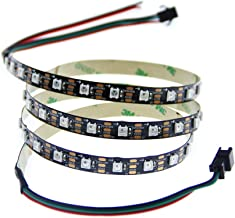 ALITOVE 3.2ft 60 Pixels WS2812B Individual Addressable RGB LED Strip Light Programmable WS2811 IC Built-in 5050 LED Rope L...