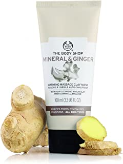 The Body Shop Mineral And Ginger Warming Massage Clay Mask, 100% Vegan Face Mask, 3.3 Fl. Oz.