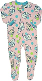 Infant Toddler Girls Plush Pink Kitty Cat Sleeper Sleep Play Kitten Pajamas 291c697ba