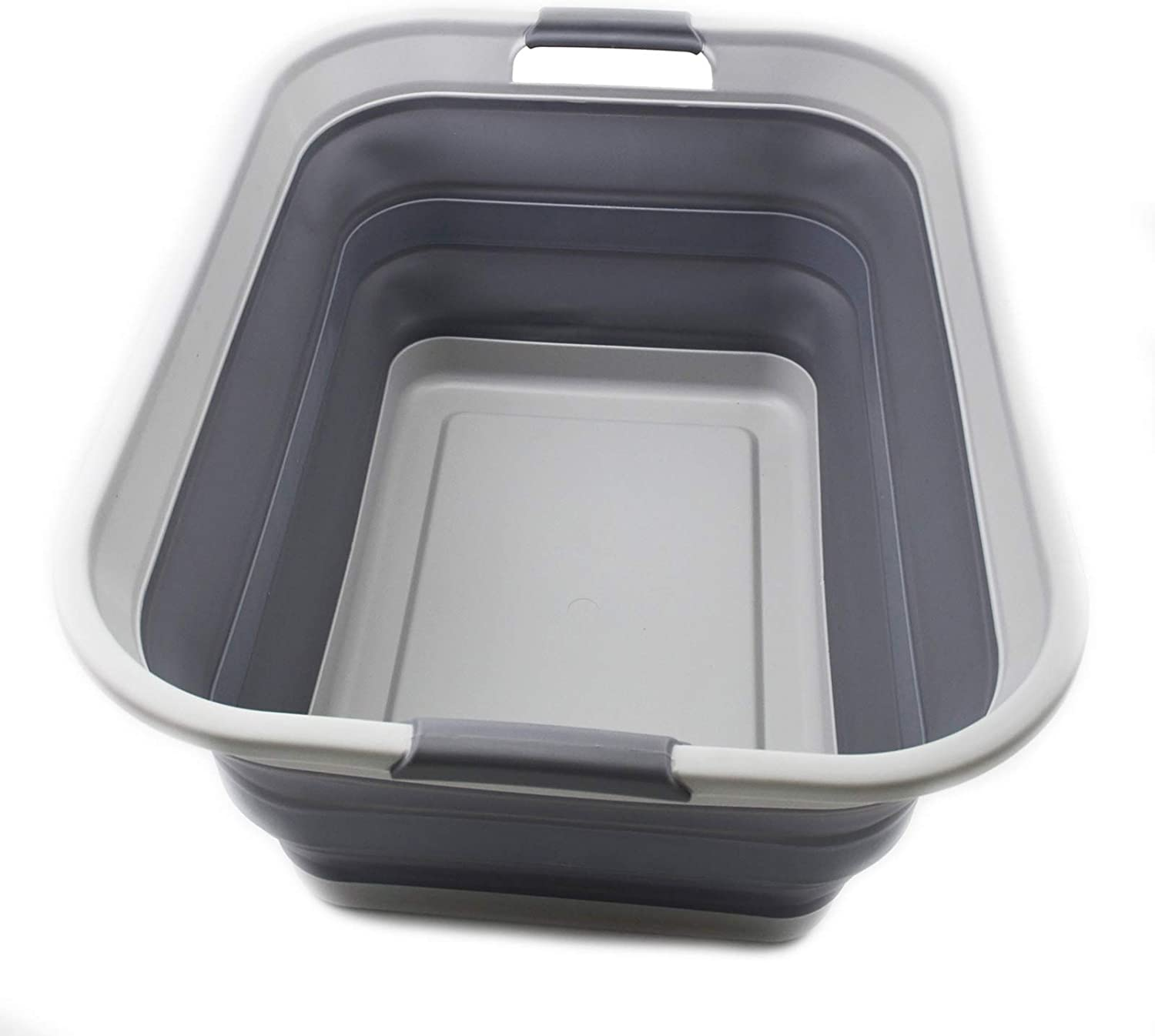 SAMMART Collapsible Plastic Laundry Max 73% OFF Basket - Up Foldable Pop Classic Sto