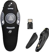 COSORO Télécommande de présentation sans fil, 2,4 GHz avec pointeur laser rouge, pour PPT/Keynote/Prezi/OpenOffice/Window...