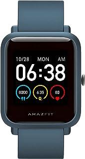 Amazfit Bip S Lite スマートウォッチ 30日バッテリー寿命 睡眠モニタリング 心拍モニタリング 座りすぎ通知 5ATM アプリ通知 活動量計 1.28インチ 14つスポーツモード 常時点灯 IOS/android(ブルー)