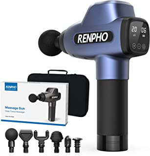 Massage Gun, RENPHO C3 Deep Tissue Muscle Massager, Powerful Percussion Massager Handheld with Portable Case for Home Gym ...
