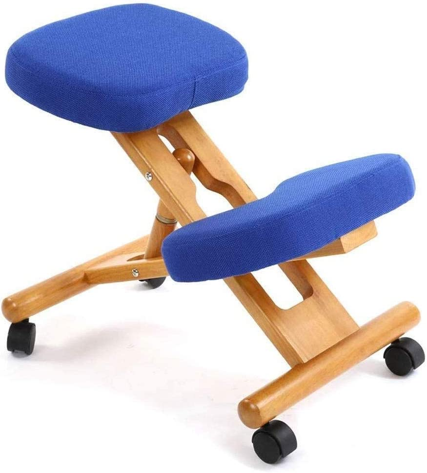 Wooden Kneeling Chair with overseas Wheels Adjustable Quantity limited Ergonomic fo Stool
