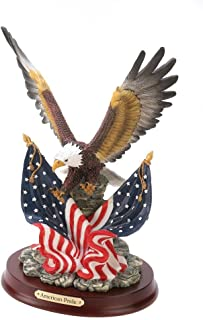 VERDUGO GIFT CO Patriotic Eagle Statue, Gold/Red