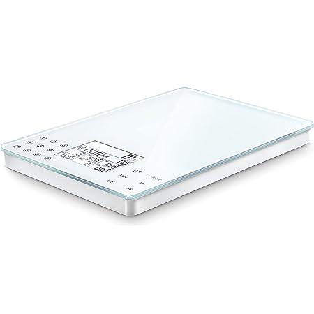 Soehnle 6208317 Balance Electronique Food Control Easy Blanc Plateau Verre 5 Kg / 1 g