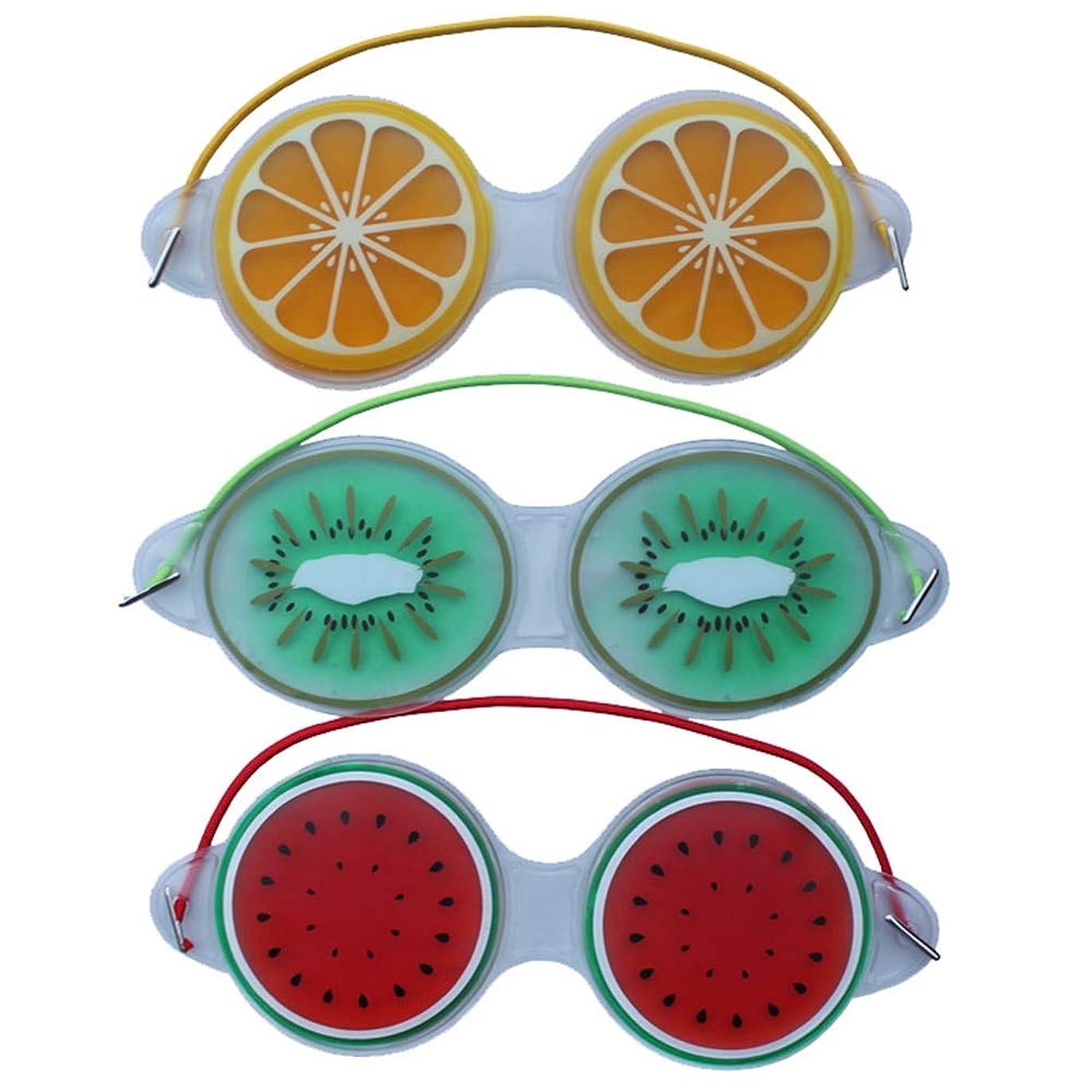 コロニアル記憶血統メモジェルアイマスク睡眠よく圧縮かわいいフルーツジェル疲労緩和冷却アイケアリラクゼーションシールドアイケアツール