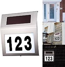 1PCS Hausnummernleuchte Solar, FORNORM Solar Beleuchtete Hausnummer mit 2 LED Beleuchtung, Lichtsensor, IP44 Wasserdicht, ...