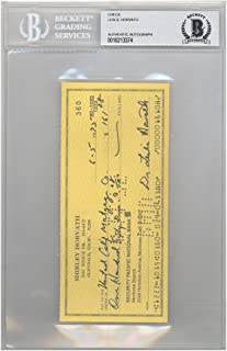 Les Horvath Autographed Signed 3x6 Check Ohio State Buckeyes Heisman - Beckett Authentic