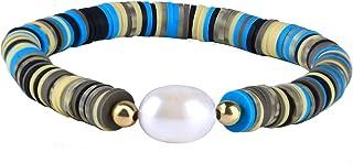 C·QUAN CHI Bohemian Strand Bracelet Handmade Freshwater Pearl Charm Bracelet Friendship Fashion Bangle Women Girls
