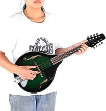 Mandolina de 8 cuerdas, mandolina de madera de 22 trastes, instrumento musical de 8 cuerdas con bolsa de almacenamiento, cuerpo de madera de arce, puente de diapasón, verde