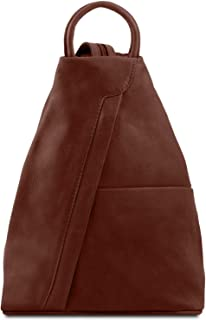 Tuscany Leather Shanghai Leather Backpack Brown 646f59c0394a1