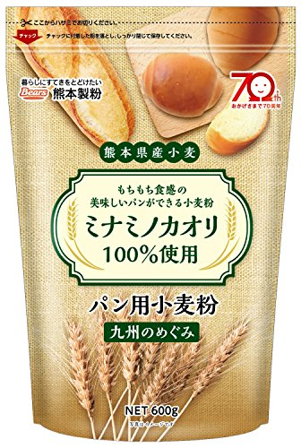 国産 【 強力粉 】 九州のめぐみ 9kg ( 600g ×15袋入) 熊本県産 ミナミノカオリ 使用 強力小麦粉