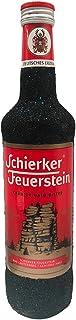 Glitzer Schierker Feuerstein Kräuter-Halb-Bitter, Kräuterlikör 1 x 0.7 l - Bling Glitzerflasche schwarz