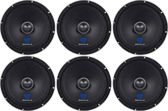 "$134 » (6) Rockville RXM84 8"" 1500w 4 Ohm Mid-Range Drivers Car Speakers, Mid Bass"