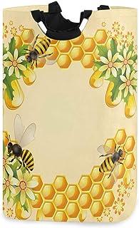 CaTaKu Papillon Bee Panier à linge Boîte de rangement étanche facile à transporter pour dortoir familial