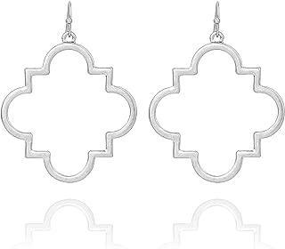 silver quatrefoil earrings