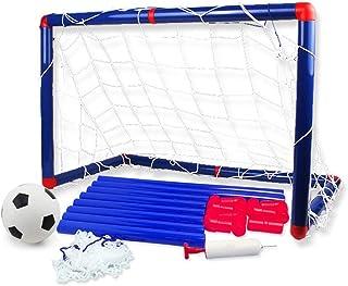 Keliour Fotbollsnät utomhus bärbart fotbollsnät för barn fotboll mål nät inomhusträning övning 60 x 32 x 47 cm för barn fo...