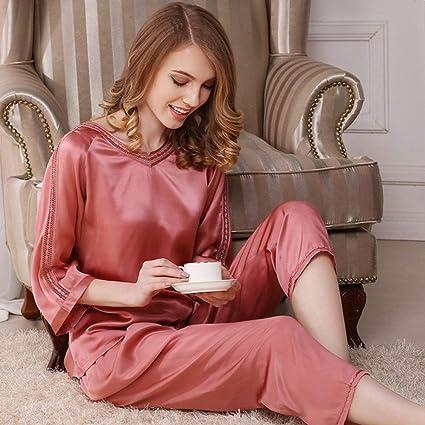JFCDB Pijama de Verano,Conjunto de Pijama 100% para Mujer ...
