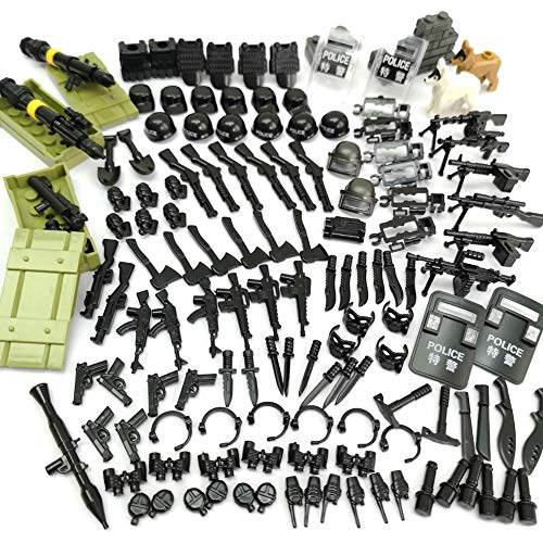 Military Weapons Accessories Army Series Swat Police Weapons Building Blocks for City Police, Best Kid