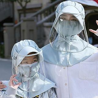 Full Face Protection Hat,adjustable size Transparent Protective Hat Suitable for public places ,5Pcs