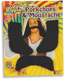 Forum Novelties 62049 Hippie Chops and Moustache Party Supplies, One Size