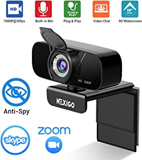 1080P Streaming Webcam with Microphone & Privacy Cover, 2020 NexiGo N620 Web Camera, 90-Degree Wide Angle, for PC/Mac Lapt...