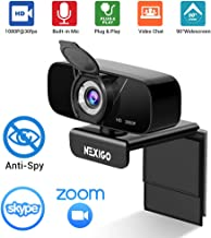 2020 [Upgraded] 1080P Webcam with Microphone & Privacy Cover, NexiGo 90-Degree Wide Angle Web Camera for PC/Mac Laptop/Desktop Streaming Zoom Skype FaceTime Video Calling Recording Conferencing